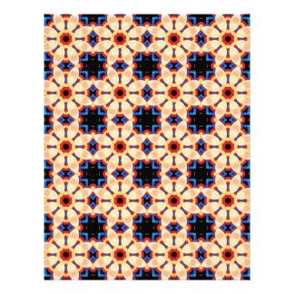 Scrapbook Paper Red Yellow Blue Pattern Custom Letterhead
