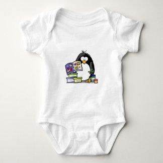 Scrapbook Penguin Baby Bodysuit