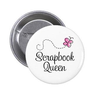 Scrapbook Queen Gift Pinback Button