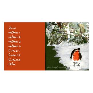 Scrapbook Robins Business Card Template