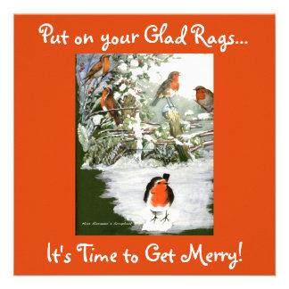 Scrapbook Robins Invitation