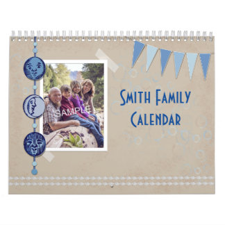 Scrapbook Style Photo Memory Any Year Calendar
