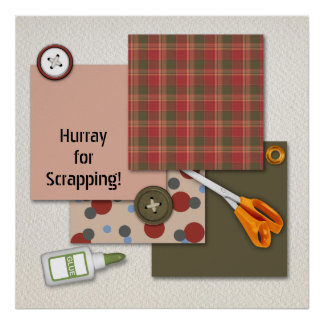 Scrapbook Supplies Make a Scrapper Happy Poster
