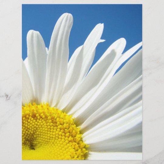 Scrapbook Theme Paper Floral White Daisy Flowers Zazzle