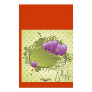 Scrapbook Wallpaper Purple Hearts Stationery