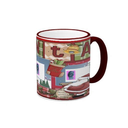 Scrapbook Xmas 1 Ringer Mug