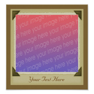 Scrapbook Your Photo Template Personalized Poster
