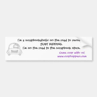 Scrapbookaholic Vinyl Bumper Sticker Car Bumper Sticker