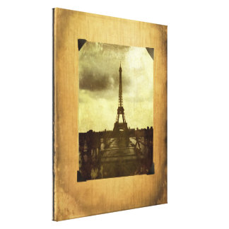 Scrapbooked Paris Wrapped Canvas Gallery Wrapped Canvas