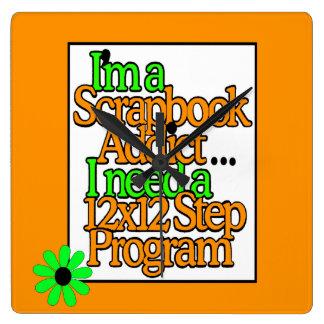 Scrapbooker Craft Room Square Wall Clock