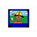 scrapbooker del béisbol postal