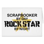 Scrapbooker Rock Star by Night Greeting Card