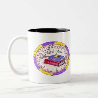 Scrapbooking and Cooking Two-Tone Coffee Mug
