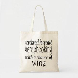 Scrapbooking and Wine Tote Bag