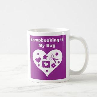 Scrapbooking Bag Classic White Coffee Mug