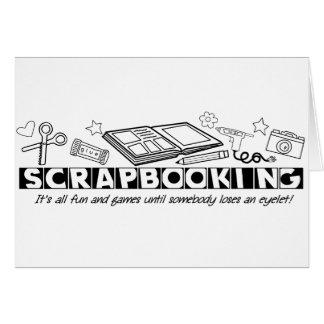 Scrapbooking Black Text Card