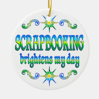 Scrapbooking Brightens Ceramic Ornament
