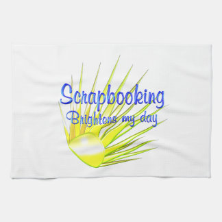 Scrapbooking Brightens Kitchen Towel