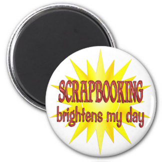 Scrapbooking Brightens My Day 2 Inch Round Magnet