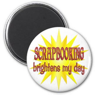 Scrapbooking Brightens My Day Refrigerator Magnet