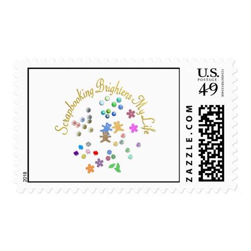 Scrapbooking Brightens My Life Postage Stamps