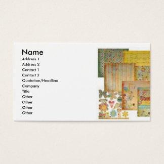 Scrapbooking Business Cards