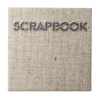 Scrapbooking Ceramic Tile