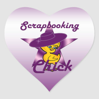 Scrapbooking Chick #9 Heart Sticker