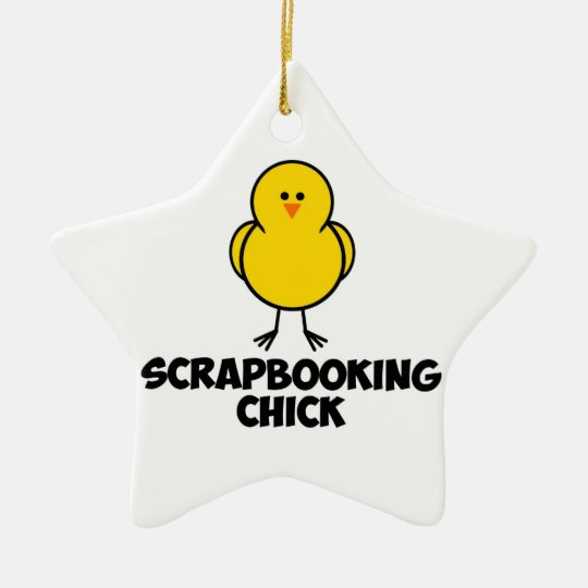 Scrapbooking Chick Ceramic Ornament