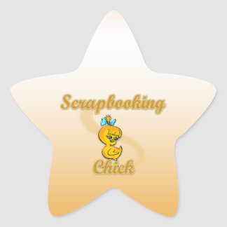 Scrapbooking Chick Star Sticker