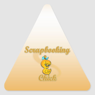 Scrapbooking Chick Stickers