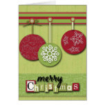 Scrapbooking Christmas Ornaments Card