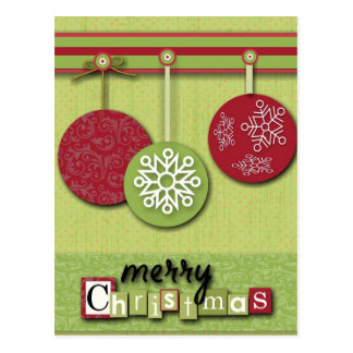 Scrapbooking Christmas Ornaments Post Cards