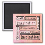 Scrapbooking colorido imanes