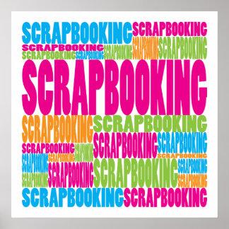 Scrapbooking colorido impresiones