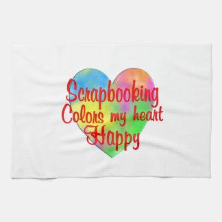 Scrapbooking Colors My Heart Happy Hand Towels