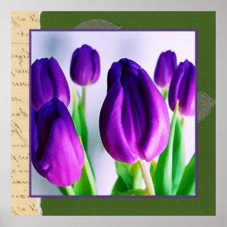 Scrapbooking con el poster de los tulipanes