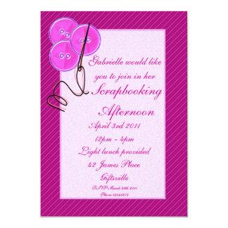 Scrapbooking/Craft Party Invitation