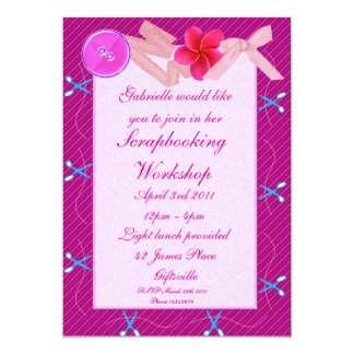 Scrapbooking/Craft Party Invitation 2