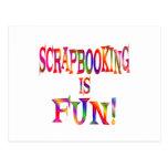 Scrapbooking es diversión tarjetas postales