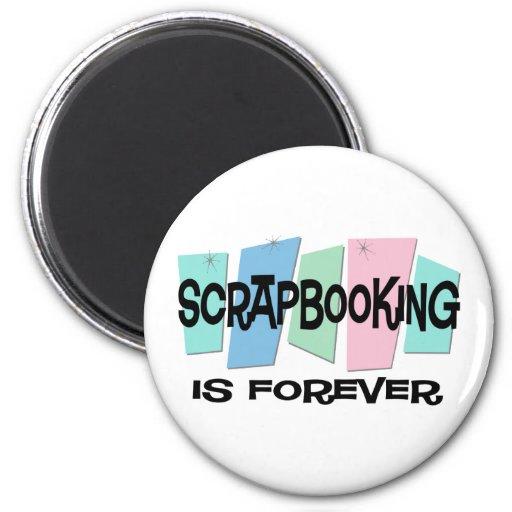 Scrapbooking es Forever Iman De Frigorífico