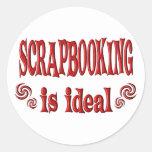 Scrapbooking es ideal pegatinas redondas