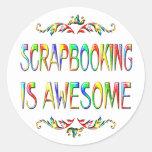 Scrapbooking es impresionante etiquetas redondas