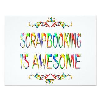 """Scrapbooking es impresionante invitación 4.25"""" x 5.5"""""""