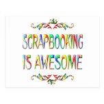 Scrapbooking es impresionante postal