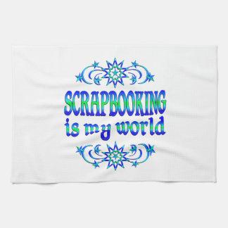 Scrapbooking es mi mundo toalla de cocina