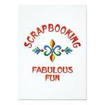 Scrapbooking Fabulous Fun 5x7 Paper Invitation Card
