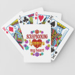 Scrapbooking feliz baraja de cartas