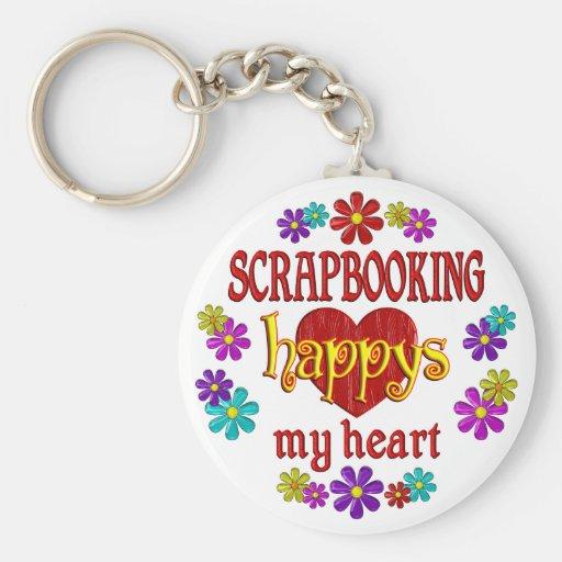 Scrapbooking feliz llavero