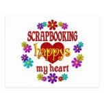 Scrapbooking feliz tarjeta postal